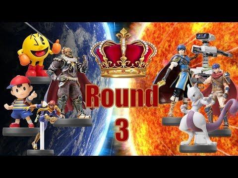 The Amiibo Games Round 3 Set 4 (Plus Round 3 Highlights!)  Anime (Marth) vs. Espeon (Mewtwo)