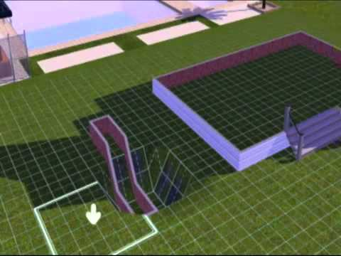 The sims 3 tutorial   how to make half walls roof   YouTube