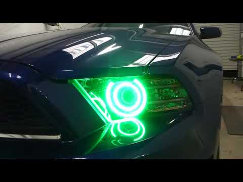 2014 Mustang Custom RGB Halo Headlights