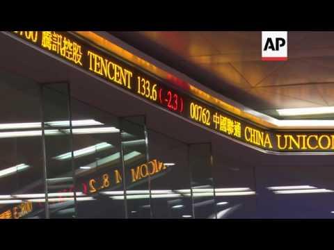 Hong Kong shares fall sharply