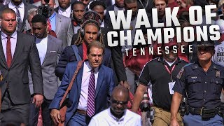 Watch Alabama arrive for the Walk of Champions before facing Tennessee