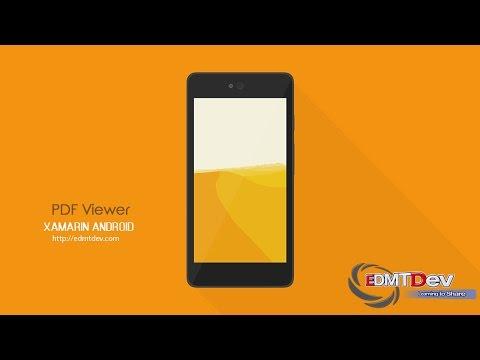 Xamarin Android Tutorial - PDF Viewer