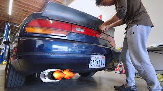 240SX DUCK TAIL SPOILER INSTALL!!