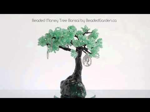 Beaded Money Tree Bonsai