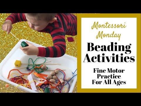 Beading Activities Fine Motor Skills Practice for Preschool at Home - Buttoning -Improve Pencil Grip