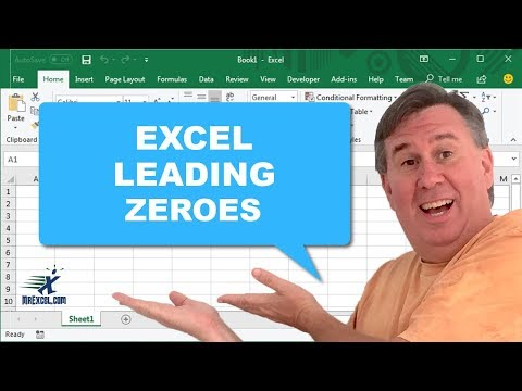 MrExcel's Learn Excel #392 - Leading Zeroes
