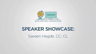Toastmasters 2020 Convention Speaker Showcase: Saveen Hegde