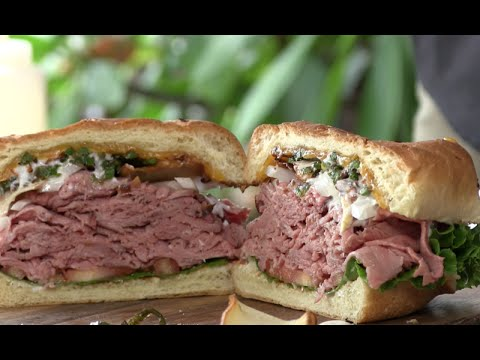 Ultimate Roast Beef Sandwich on the PK Grill!