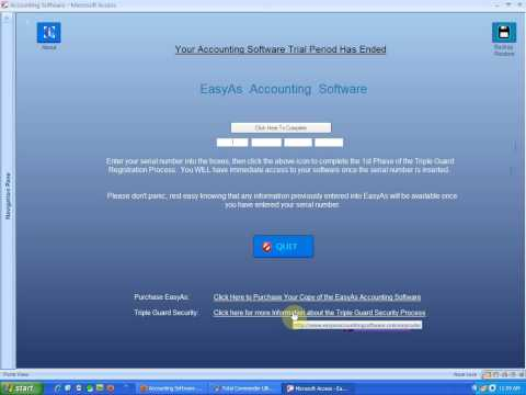 Entering Serial Number into EasyAs Accounting Software