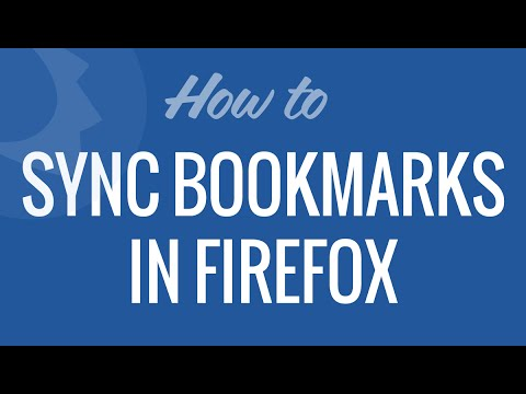 Sync Bookmarks in Firefox browser