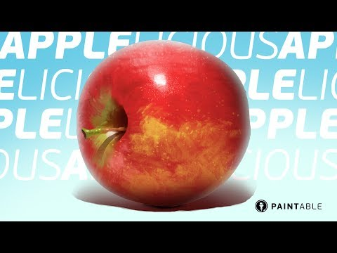 How to Paint a Lifelike Apple With Texture Brushes (From Sketch to Final)