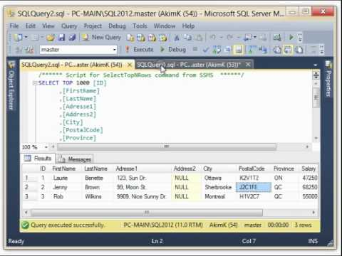 Topic #6: UPDATE TABLE Employee - SQL-Server 2012