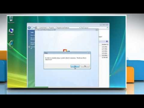 Microsoft® Office 2007: How to uninstall Microsoft® Office 2007 from Windows® Vista?