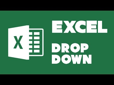 Creating a drop-down list in Excel 2013