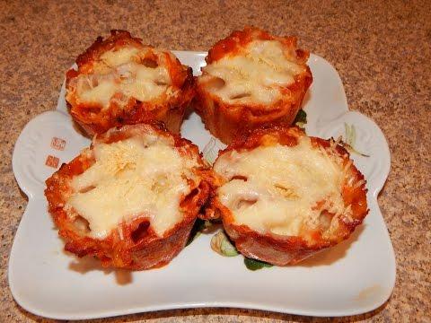 Mini Pasta Pie - Rigatoni Recipe - 4 Ingredient Recipe