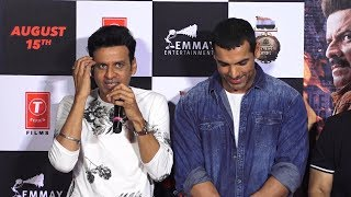 Manoj bajpai Emotional Reaction On john abraham satyamev jayate movie trailer launch