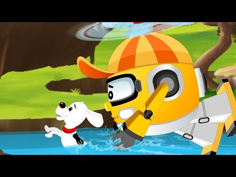 Rob the Helicopter with Super 5 Rescue Team on a Mission to Save Baby Car | Kids Cartoon