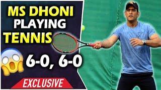 Dhoni Tennis Match Highlights 6-0, 6-0 | Dhoni Playing Tennis in Ranchi | Unseen Video 2019