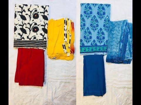 UNSTITCHED COTTON DRESS MATERIAL    Unstitched Salwar Kameez collections