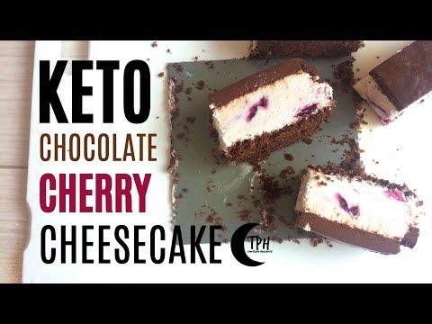 Keto Chocolate Cherry Cheesecake | Low-Carb No-Bake Cheesecake Recipe | Sugar-Free Cheesecake