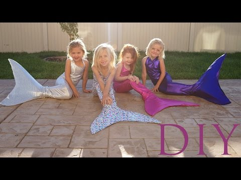 DIY HOW TO MAKE A SWIMMABLE MERMAID TAIL FOR UNDER $25