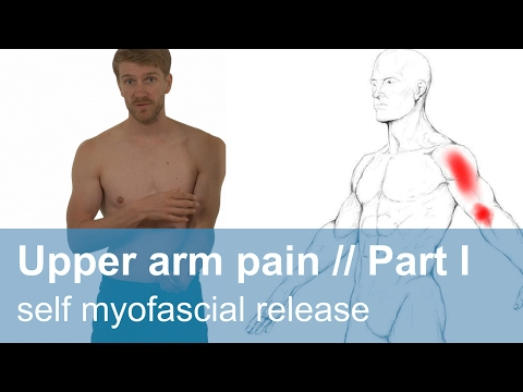 Muscle pain in the upper arm part 1 // self myofascial release