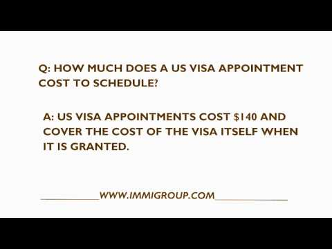 How Much Does A US Visa Appointment Cost?