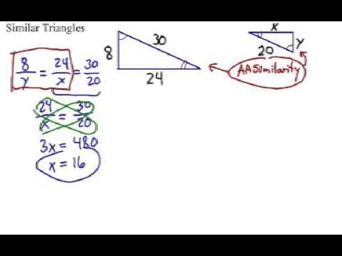 Similar Triangles: Finding the Missing Parts