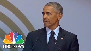 Fmr. President Barack Obama Speaks At Mandela Day (Full)   NBC News