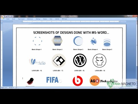 How to Design ANY Logo Using Microsoft Word - Part 1