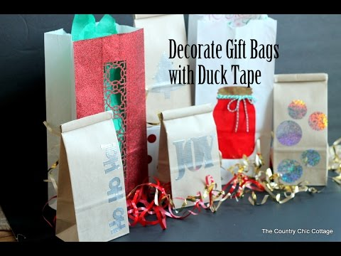 Duck Tape Holiday Gift Bags