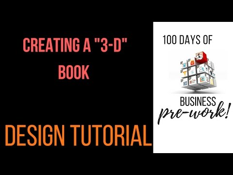 Create a 3d book cover with Pixlr and Canva