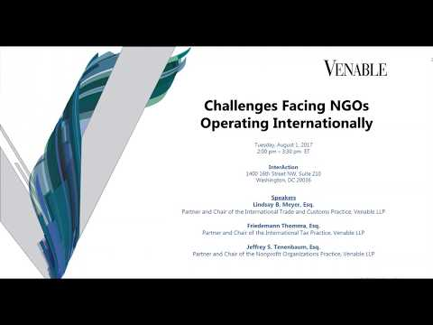Together Project Learning Series: Challenges Facing NGOs Operating Internationally