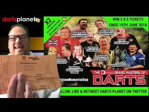 WIN 5 TICKETS TO GRAND MASTERS DARTS 2018 - X2 LOTS TO GIVEAWAY