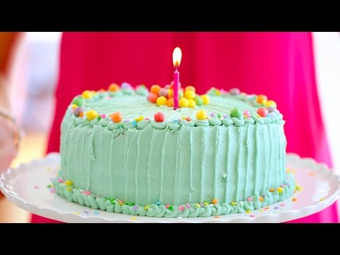 Funfetti BIRTHDAY CAKE with Bubblegum Buttercream Frosting - Gemma's Bigger Bolder Baking Ep. 28