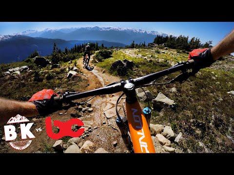 The backcountry of Whistler Bike Park   Mountain Biking Top of the World   BK vs. BC Episode 2