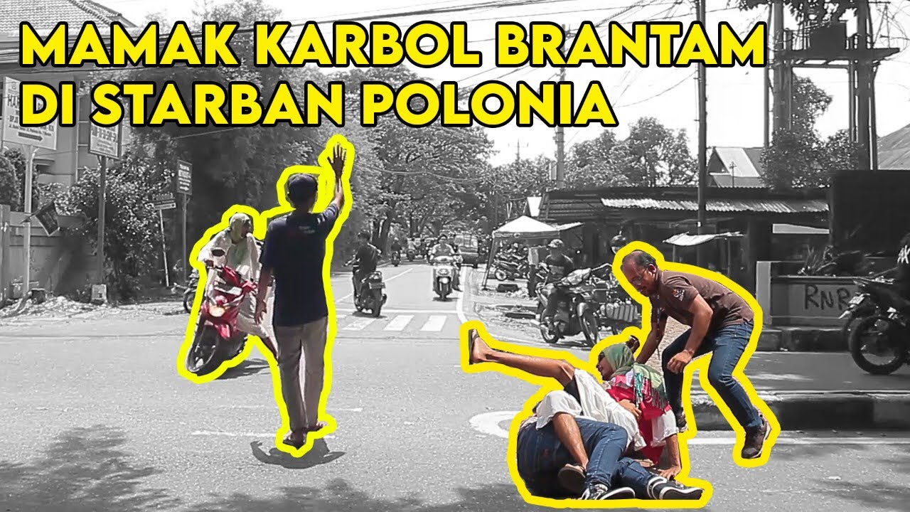 MAMAK KARBOL BERANTAM DI STARBAN POLONIA               #makkarbolgila