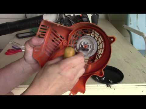 replacing the starter cord on a Stihl gas blower