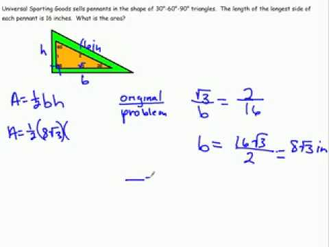 Special Right Triangles 30 60 90 Part 3