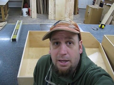 Making the custom drawer boxes.