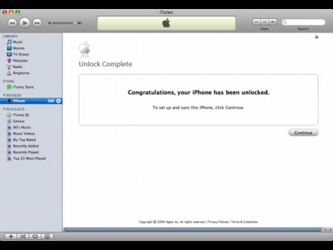 How to Factory Unlock Any iPhone's For Free With iTunes