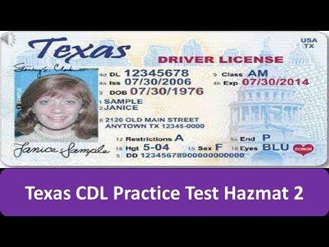 Texas CDL Practice Test Hazmat 2