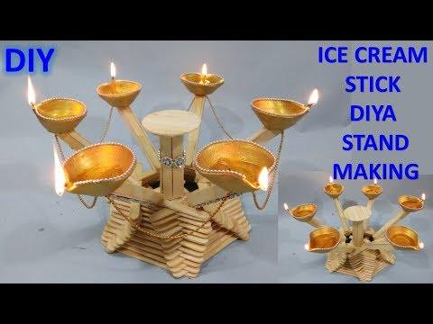 How to make ice cream stick craft || Diwali decoration craft || diy crafts || temple decorate craft
