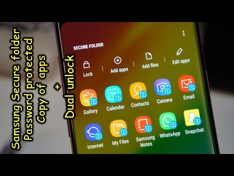 Samsung Secure Folder - Password protected copy of apps and dual fingerprint unlock