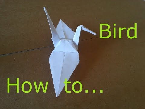 Origami Paper Bird : how to make, Japanese Origami, paper bird, folding paper bird