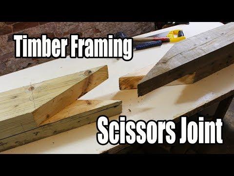 Timber Framing Scissors Joint