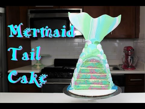 How to Make a Mermaid Tail Cake | CHELSWEETS