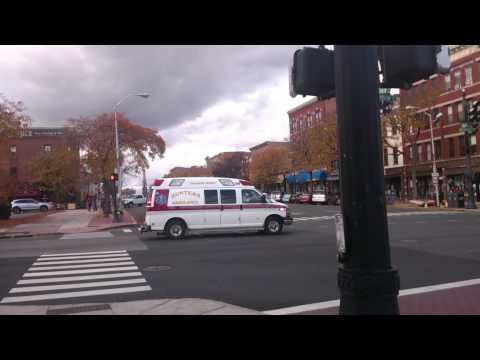 Hunters Ambulance responding, Middletown, CT
