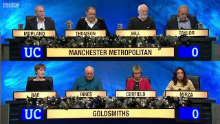 Download University Challenge - Christmas 2014 E07 Manchester Metro Uni vs Goldsmiths, Uni of London Video