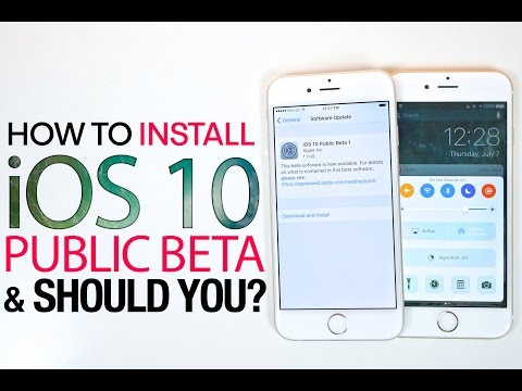 iOS 10 Public Beta - How To Install & Should You?